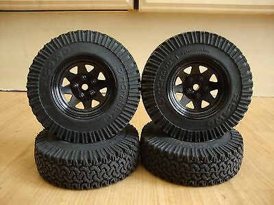 4 X Rc4Wd D90 1.9 Metal Stamped Wheels + Dirt Grabber Tyres Very Clean Condition