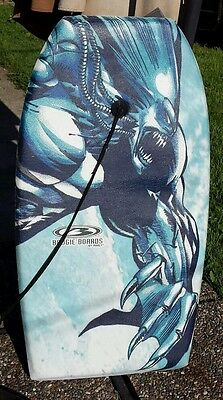 Flying Demon Alien Clawed Creature Morey Water Surfing Boogie Board with Strap