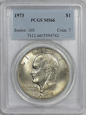 1973 Eisenhower Dollar PCGS MS66 - Only 4 Finer at PCGS