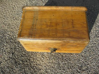 Antique Wood Toilet Tank Wall Mount Wooden Vintage Primitive  Has All Insides