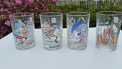 Set Of 4 Mcdonald's Disney 25Th Anniversary Glasses!!!!