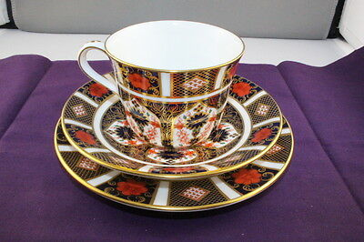 Royal Crown Derby 1128 Old Imari Cup Saucer and Side Plate Set  XXXVII