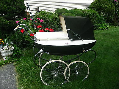 Vintage English Baby Pram Carriage