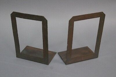 Pair 1910 Signed Roycroft Copper Bookends Antique Arts & Crafts Vintage (10319)