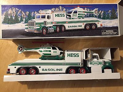 1995 Hess Truck W/ Helicopter - Free Shipping
