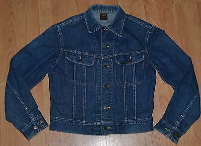 Vintage 1950's LEE Riders 101-J Denim Jacket 40 Gold/Red Label 1956