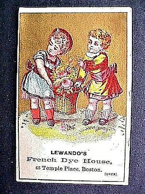 LewandosFrench Dye House Collectible Antique Victorian Trade Card