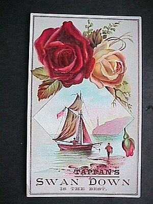 Tappans Swan Down Collectible Antique Victorian Trade Card