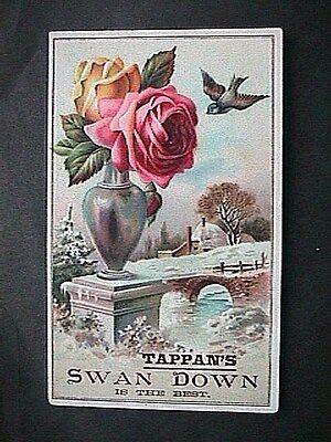 Collectible Antique Victorian Trade Card Tappans Swan Down