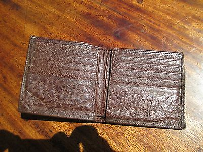 RARE MULHOLLAND BROTHERS USA Large Leather Wallet 10 card slots