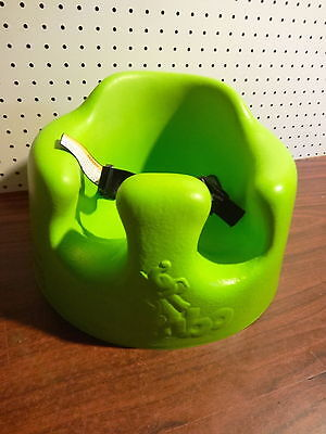 Bumbo Baby Floor Seat Lime Green With Safety Straps