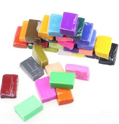 95 PCS Craft Malleable Fimo Polymer Modelling Soft Clay Block Plasticine Toys