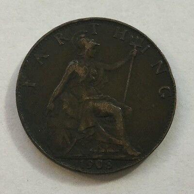 1908 Great Britain Farthing! Very High Grade!!!!!!!