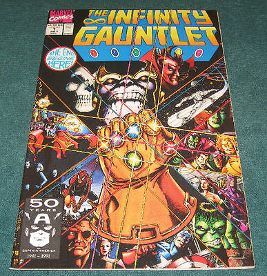 1991 Marvel Comics THE INFINITY GAUNTLET #1, 3, 6 LOT Part Set Thanos NM++