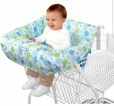 BRIGHT STARTS Comfort & Harmony Baby Toddler Shopping Cart Cover/Protection Blue