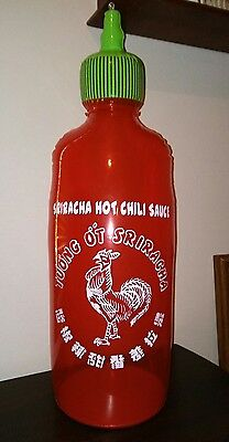 "Sriracha BIG Bottle Advertising Hanging Store Display Sign China 25"" TALL"
