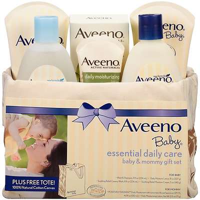 Aveeno Baby Mommy & Me Gift Set Baby Shower Bath Wash Infant Shampoo Lotions