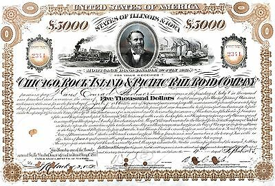 1885 Chicago, Rock Island & Pacific railroad bond certificate