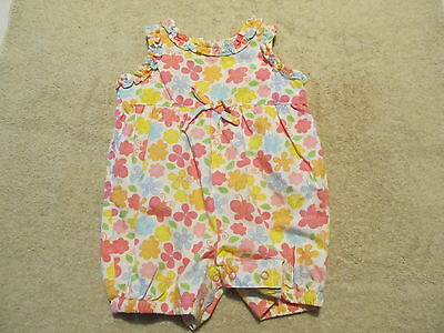 Baby UR IT Floral Girl's One Piece Romper Size 0-3 Months NWT Yellow Pink Turq