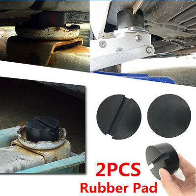 2P Pinch Weld Side JACKPAD Slotted Frame Rail Floor Jack Disk Rubber Pad Adapter