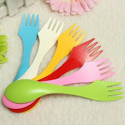 Spork Lunchbox Utensil Camping Hiking Outdoor Spoon Fork Combo Backpacking New