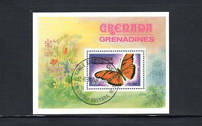 Grenadines of Grenada 1982 Butterflies miniature sheet SG MS492 Used