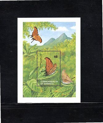 Dominica 1982 Butterflies miniature sheet SG MS820 MUH