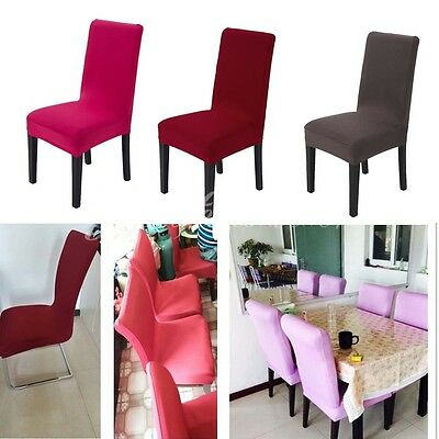 Easy Stretch Chair Cover Dining Room Cafe Hotel Wedding Seat Elastic Protector
