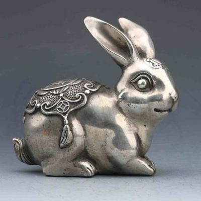 Cupronickel  Carved Rabbit statue