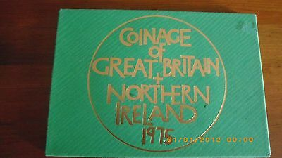 1975 Uncirculated Royal Mint  Coins of the United kingdom nd Northern ireland