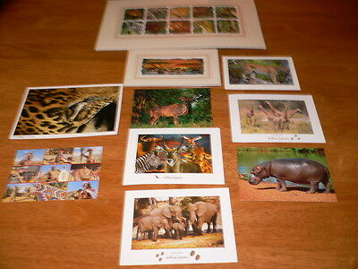 African Paintings Postcards 10 Items