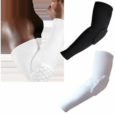 Honeycomb Pad Crashproof Football Basketball Shooting Arm Sleeve Elbow Support K