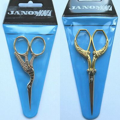 Stork Embroidery or Embroidery Scissors Janome Craft Shears 9cm Long (UK Seller)
