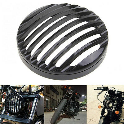 Black Metal Headlight Grill Cover for  Sportster XL 883 1200 X48