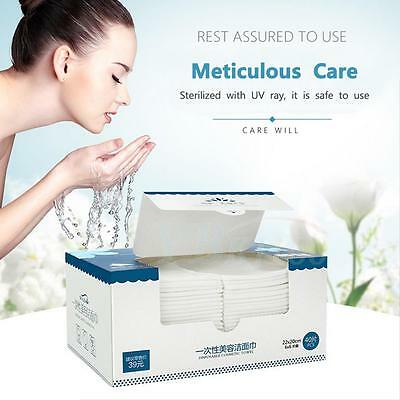 Disposable Face Wipes Cotton Pad Towelettes Make Up Remover Cleansing Facial LJ