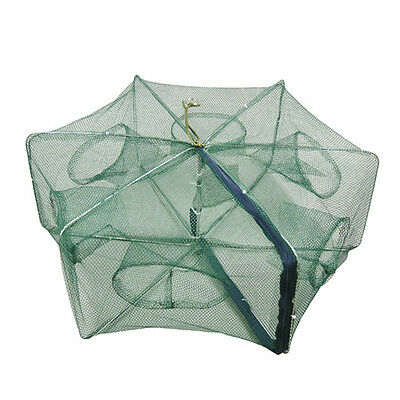 Full automatic foldable fishing net 6 hole Shrimp Crab crayfish fishing Net RM1
