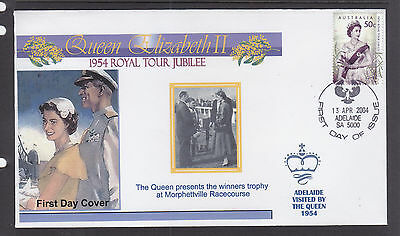 "Souvenir Cover:  2004,, The Royal Tour Jubilee Of 1954, Visited ""adelaide"""