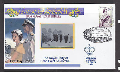 "Souvenir Cover:  2004,, The Royal Tour Jubilee Of 1954, Visited ""katoomba"""