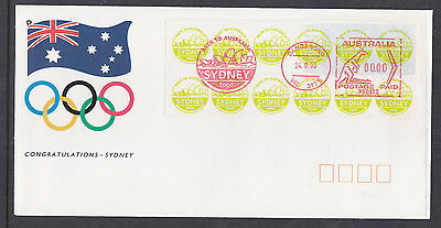 Souvenir Cover:  Backto Australia 2000 Olympics Cover, Made By Lec????