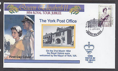 "Souvenir Cover:  2004,, The Royal Tour Jubilee Of 1954, Visited ""york"""