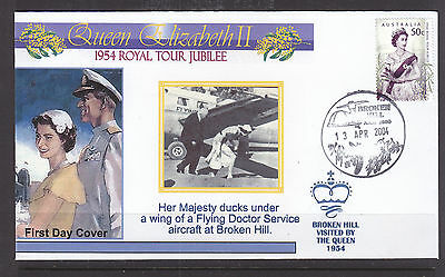"""Souvenir Cover:  2004,, The Royal Tour Jubilee Of 1954, Visited """"broken Hill"""""""