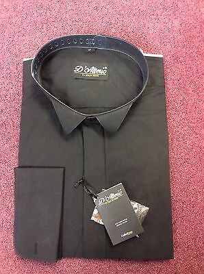 Brand New Black Wing Collar Shirt By D' Alter*