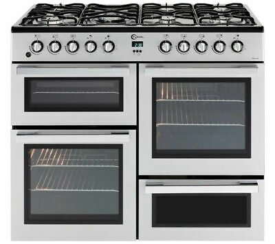 FLAVEL MLN10FRS Dual Fuel Range Cooker Silver & Chrome
