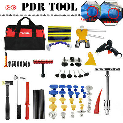 PDR Tools Paintless Dent Car Dent Removal Tools Kit Dent Lifter T-bar Puller Tab