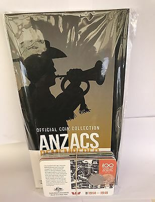2015 20c 14 coins and folder Anzac Remembered set in sealed bag