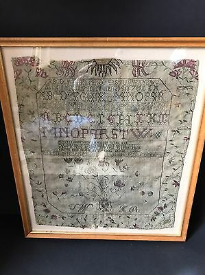 Antique Georgian Embroidered Sampler dated 1793