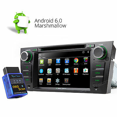 """US OBD-II 7""""HD Touch LCD Android 6.0 Car DVD Player Stereo GPS for BMW E90-E93 A"""