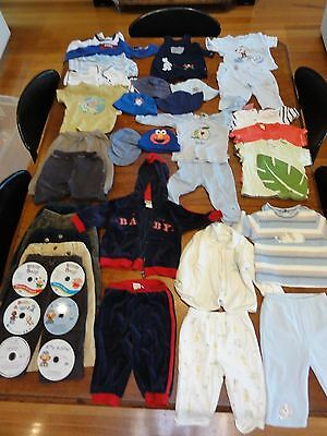 Baby Boys Clothes Mixed Bulk Lot 32 items sz 0 ( LOT 3 ) Plus 6 Baby cds