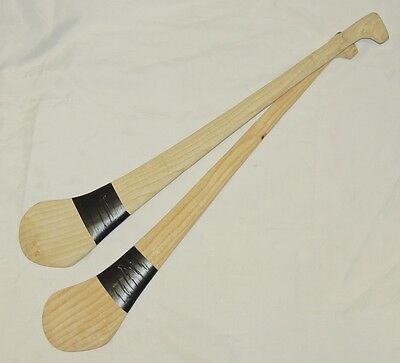 "2 x  28"" Indoor Wooden Hurling Sticks."