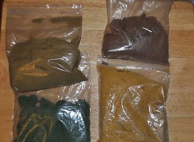 4 Bags Of Model Railroad Landscape Material Diorama Model Car